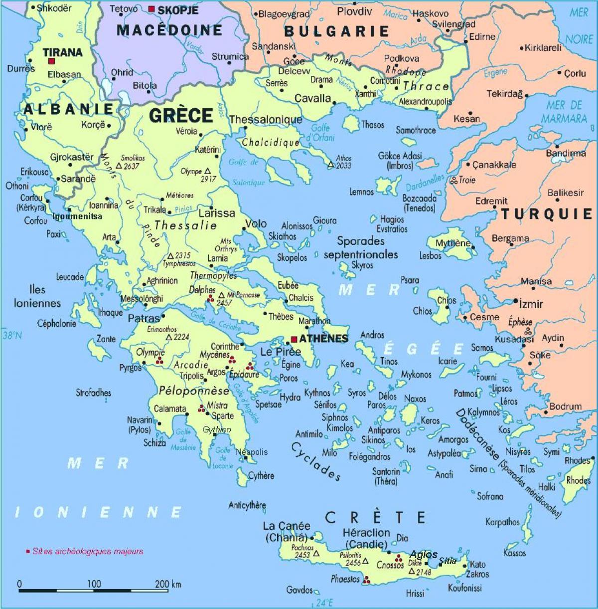 Karta Na Grciya Podrobna Karta Na Grciya Yuzhna Evropa Evropa
